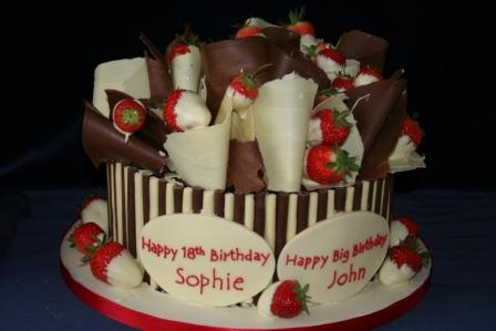 Cake With New Season StrawberriesJPG