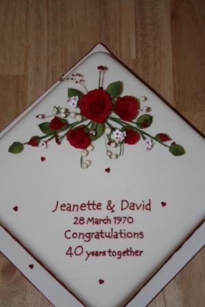 Melanie Ferris Cakes News » Ruby Wedding Anniversary Cake