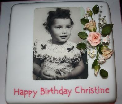 Melanie Ferris Cakes News Birthday Cake With Photograph