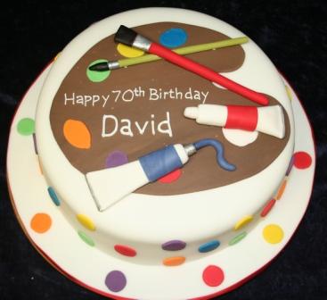 20120831 Artist Palette Birthday CakeJPG