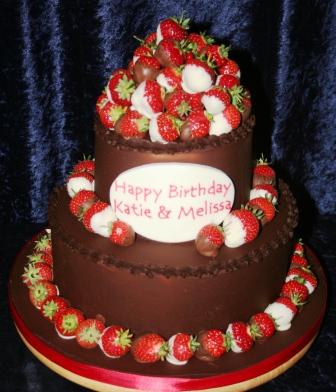 20121123 Joint 21st Birthday Chocolate CakeJPG