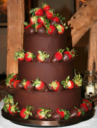 20130322 3 Tier Chocolate Cake With Dipped StrawberriesJPG
