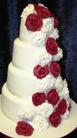 Melanie Ferris Cakes News » Wedding Cake with Cascade of White and ...
