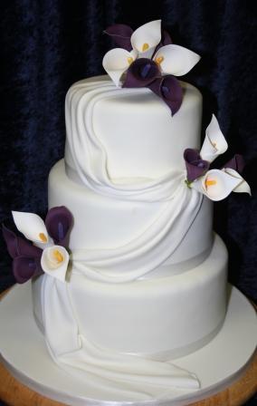 Melanie Ferris Cakes News » Calla Lily Wedding Cake