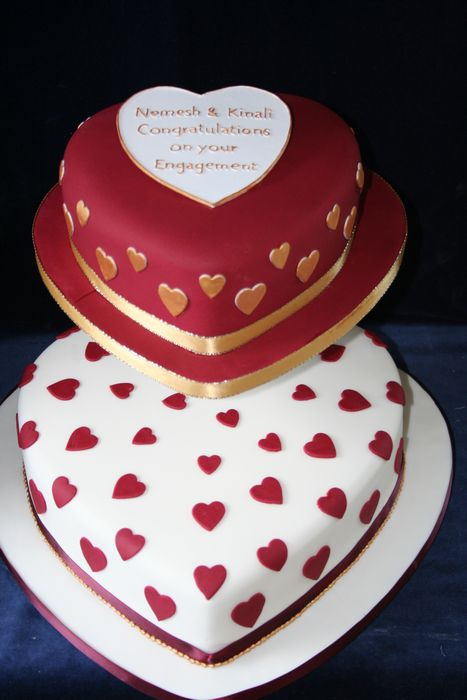 Two Heart Cake Images : gallery/Anniversary/2-tier heart shaped cake