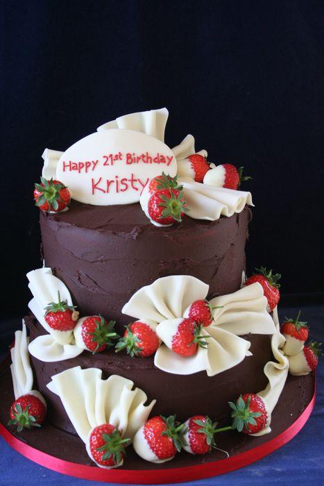 Gallery Birthday Chocolate 2 Tier Cake